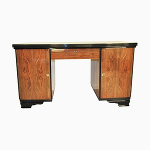 Art Deco Walnut Desk, 1940s