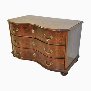 Neo-Baroque Commode with Brass Handles, 1970s