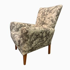 British Armchair in Marble Effect Fabric, 1950s