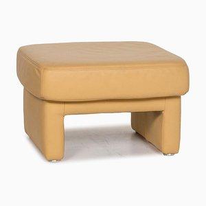 Taburete de cuero amarillo de Koinor