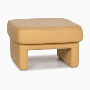 Yellow Leather Stool from Koinor