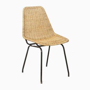 Chaise de Salon en Rotin par Dirk van Sliedrecht pour Rohé Noordwolde, 1960s