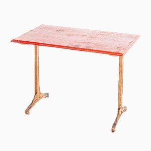 Französischer Bistro Esstisch mit Roter Tischplatte, Frankreich, 1930er