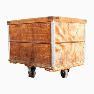 French Industrial Box Trolley from Tricotage Marmoutier, France, 1950s