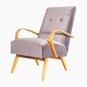 Grey Armchairs by Jindrich Halabala, Czech, 1950s, Set of 2