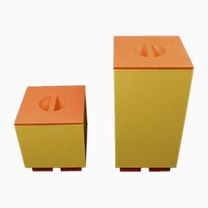 Schachteln mit Deckel von Michael Graves für Alessi, 1990er, 2er Set