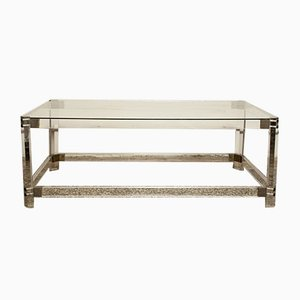 Lucite, Brass, and Glass Coffee Table by Charles Hollis Jones, 1960s