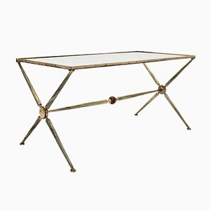 Mid-Century French Brass Coffee Table by Maison Bagues, 1950s