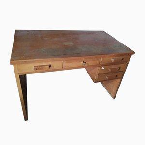 Italienischer Sperrholz Furnier Schreibtisch, 1950er