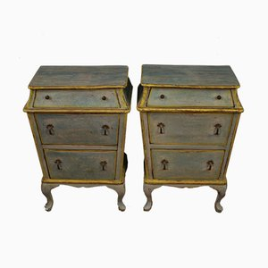 Italian Painted Nightstands, 1960s, Set of 2
