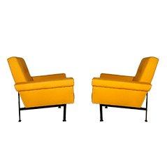 Kubistische Vintage Armlehnstühle, 2er Set