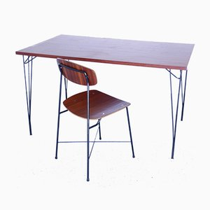 Mid-Century Teak Desks by Georges Coslin, Set of 2