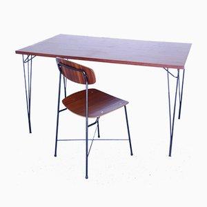 Mid-Century Teak Desks by Georges Coslin, Set of 2