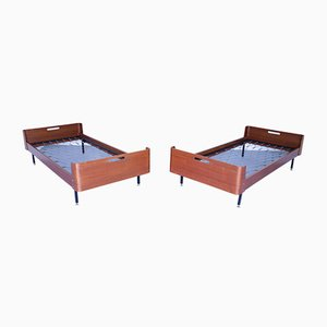 Mid-Century Teak Daybeds, Set of 2