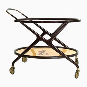 Italian Beech Serving Cart by Ico Parisi, 1950s