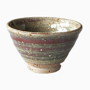 Kleine Steingut Tasse mit Roter Kupfer Lasur von Marcello Dolcini