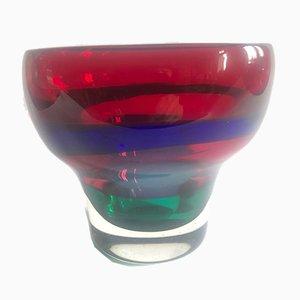 Scodella in vetro multicolore di Fulvio Bianconi per Mazzega IVR, anni '60