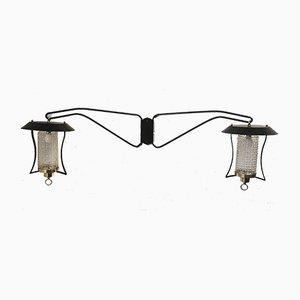 Large 2-Arm Lantern Sconce, 1960s