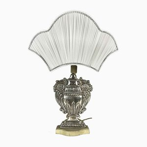 Silver Plated Copper Table Lamps, 1970s, Set of 2