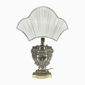 Versilberte Kupfer Tischlampen, 1970er, 2er Set
