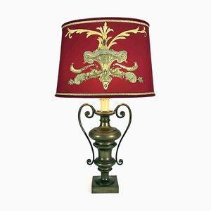 Lampe de Bureau Brodée en Bronze, 1950s
