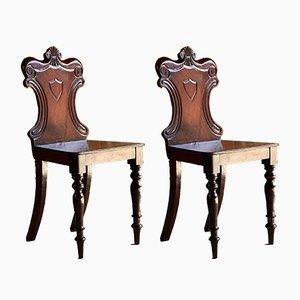 Antike viktorianische Mahagoni Stühle, 1820er, 2er Set