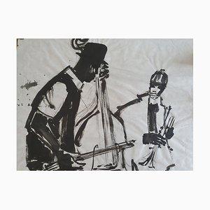 Acuarela de jazz de Louis Joos, década de 2000