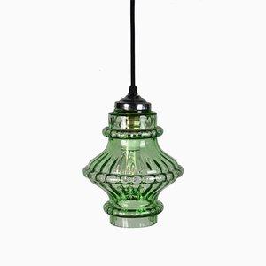 Green Tulip Ceiling Lamp, 1950s