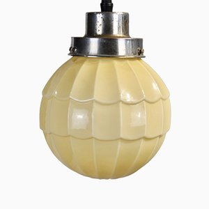 Art Deco Beige Ceiling Lamp, 1920s