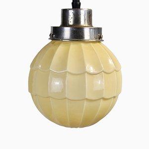Art Deco Beige Ceiling Lamp, 1920s
