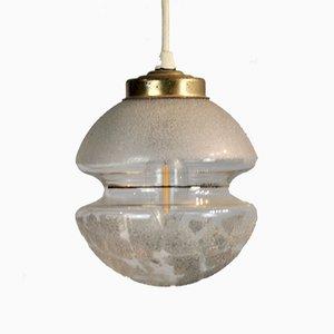Weiße Diabolo Deckenlampe, 1970er