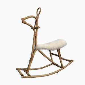 Cheval à Bascule en Bambou par Dirk van Sliedregt pour Rohé Noordwolde, 1950s