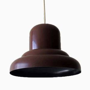 Brown Metal Pendant Lamp, 1960s