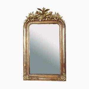 Antiker Vergoldeter Stucco Spiegel