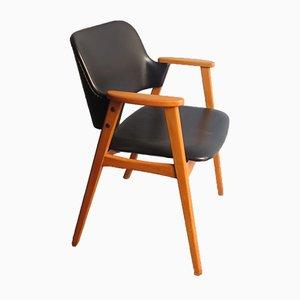 Sessel aus Kunstleder & Birkenholz, 1960er
