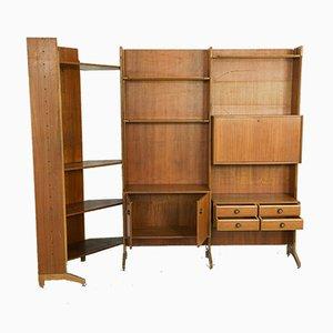 Large Vintage Scandinavian Corner Shelf, 1960s