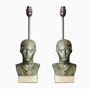 French Charioteer of Delphi Table Lamps from Maison Le Dauphin, 1970s, Set of 2