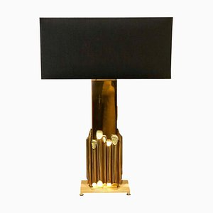Italian Solid Brass Table Lamp by Luciano Frigerio for Frigerio Desio, 1970s