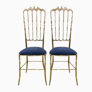 Mid-Century Chiavari High Back Chairs, 1950s, Set of 2