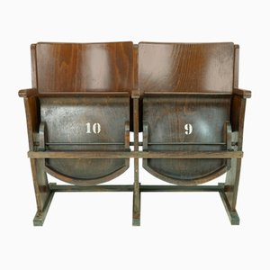 Vintage Cinema Folding Bench from TON, 1950s