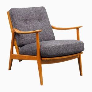 Mid-Century Armlehnstuhl im skandinavischen Stil mit Relax-Funktion, 1950er