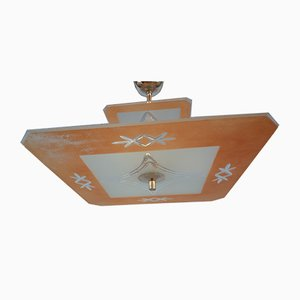 Vintage Art Deco Estate Ceiling Lamp
