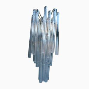 Murano Wandleuchte aus Klarglas von Venini, 1960er