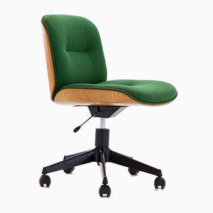 Italian Swivel Chair in Oak by Ico Luisa Parisi for MIM, 1960s