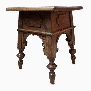 Primitive Side Table in Oak, 1950s