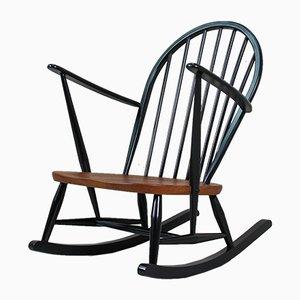 Sedia a dondolo nr. 470 Windsor di Lucian Ercolani per Ercol, anni '60