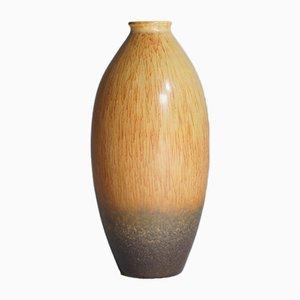 Steingut Vase mit Harefur Glasur von Carl-Harry Stålhane für Rörstrand, 1950er