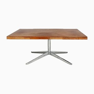 Rosewood & Steel Desk by Florence Knoll Bassett for Knoll Inc. / Knoll International, 1960s