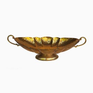 Mid-Century Handmade Brass Fruit Bowl