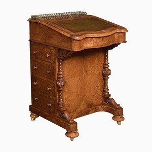 Antique Burr Walnut Davenport Desk